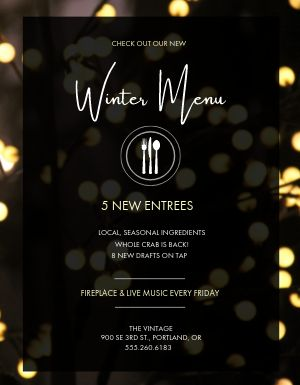 Winter Menu Flyer