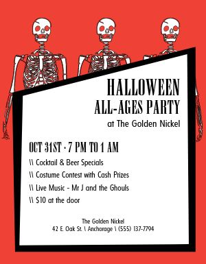 Halloween Skeleton Flyer