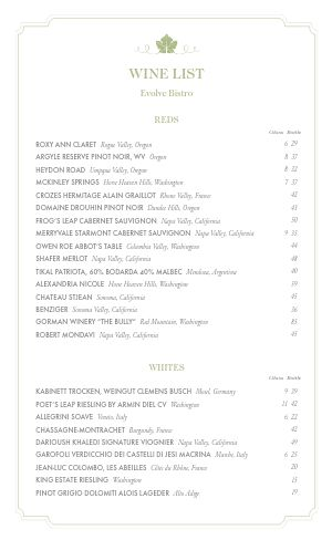 Top Wine List