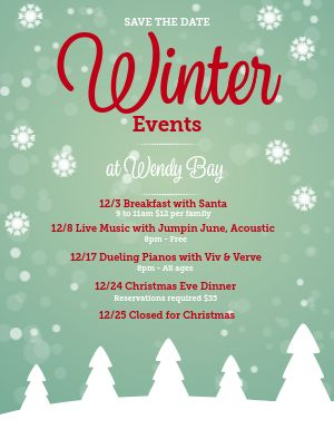 Winter Calendar Flyer