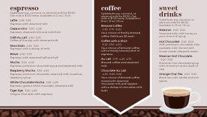 American Cafe Digital Menu Board