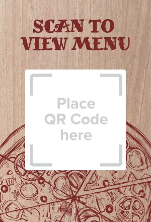 Pizza Menu Table Sign