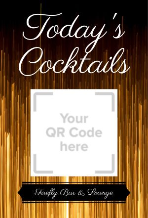 Cocktail Menu Table Sign
