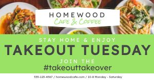 Takeout Tuesday Facebook Post
