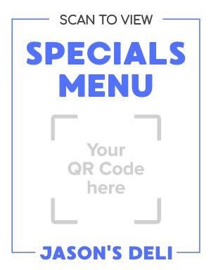 Specials Menu Sign