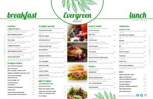 Example Diner Placemat Menu