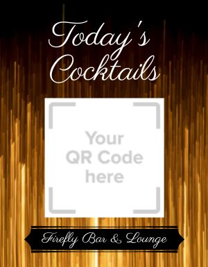 Cocktail Menu Flyer