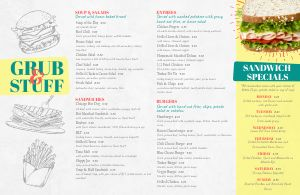Burger Placemat Menu
