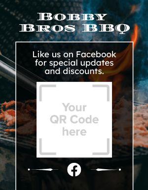 BBQ QR Code Sign