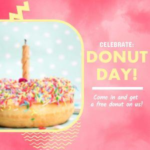 Donut Day Celebration Instagram Post