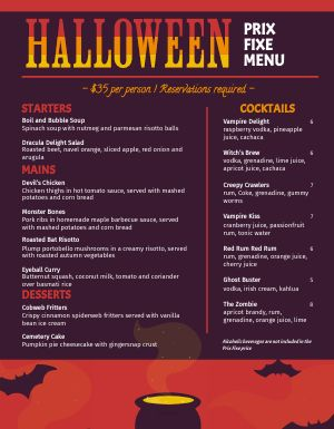 Halloween Cauldron Menu