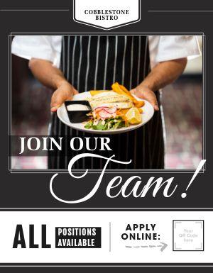 Join Our Team Restaurant Flyer