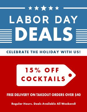Labor Day Deals Sign