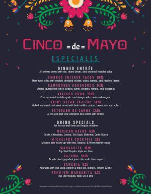 5 De Mayo Menu