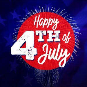 Fourth of July Fireworks Instagram Post