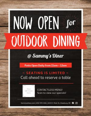 Outdoor Dining Announcement