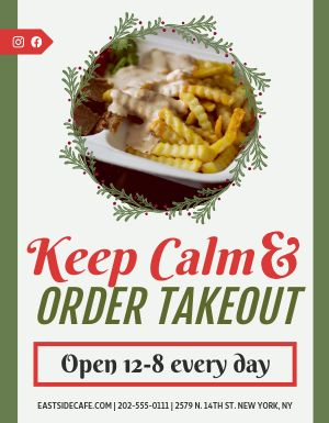 Holiday Takeout Sign