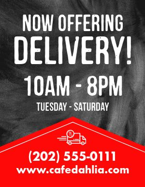 Delivery Offer Flyer