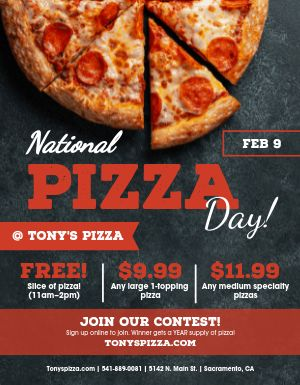 Pizza Day Flyer