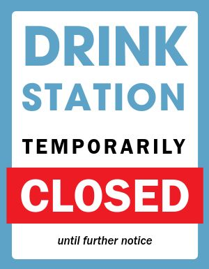 Drink Closed Notice