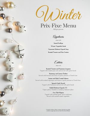 Christmas Decorations Menus