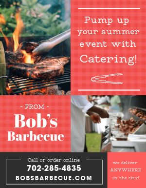 Barbecue Catering Flyer