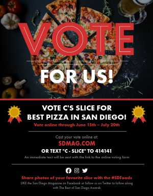 Vote For Our Business Flyer