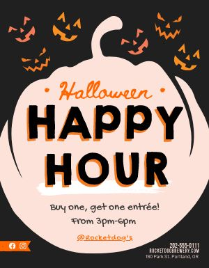 Halloween Happy Hour Flyer
