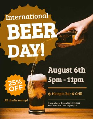International Beer Day Flyer
