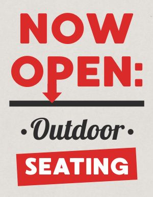 Outdoor Seating Announcement