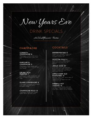 New Years Warp Menu