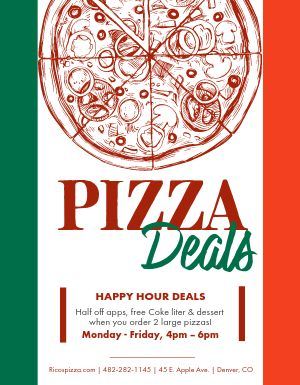 Italian Pizza Deal Flyer
