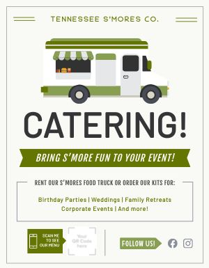 Catering Food Truck Flyer