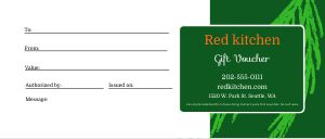 Winter Season Gift Certificate