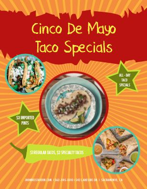 Cinco De Mayo Tacos Flyer