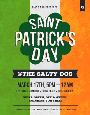 Irish St Patricks Day Flyer