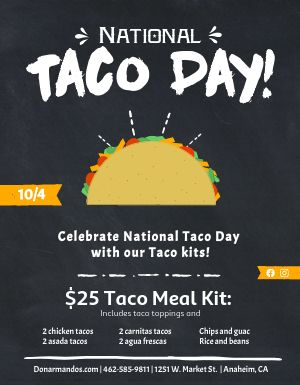 National Taco Day Flyer