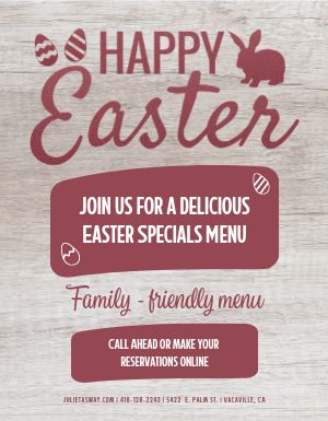 Easter Special Menu Flyer