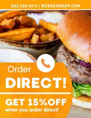 Burger Order Flyer