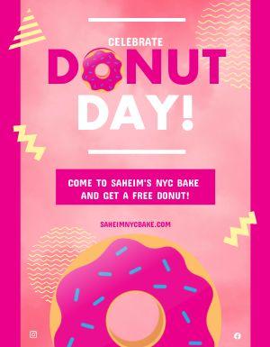 Donut Day Celebration Flyer