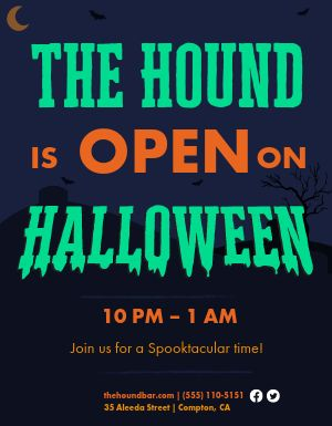 Open For Halloween Flyer