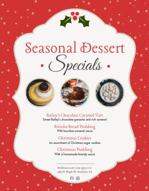 Seasonal Desserts Sign