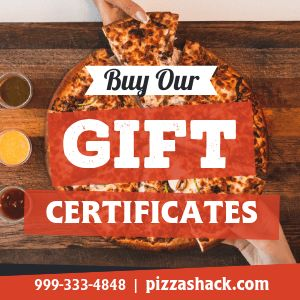 Pizza Gift Certificates Instagram Post