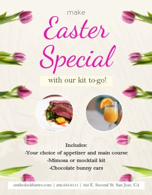Easter Specials Sign