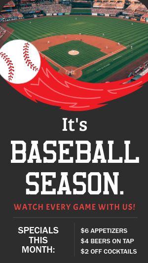 Baseball Season Facebook Story