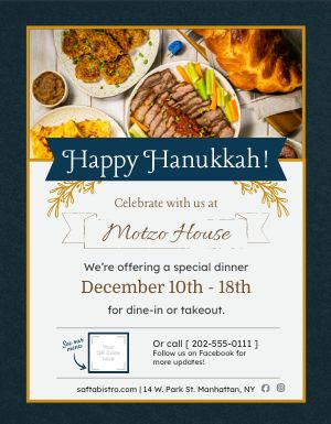 Hanukkah Celebration Sign