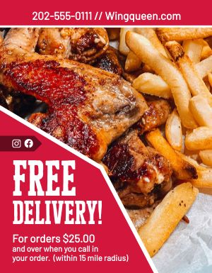 Chicken Delivery Flyer