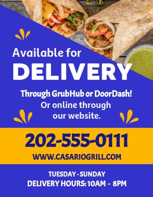 Burrito Delivery Flyer