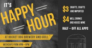 Happy Hour Chalkboard Facebook Post