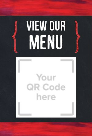 Restaurant QR Code Table Tent